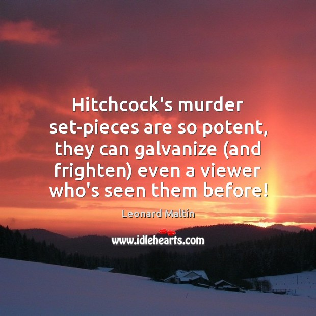 Hitchcock's murder set-pieces are so potent, they can galvanize (and frighten) even Image