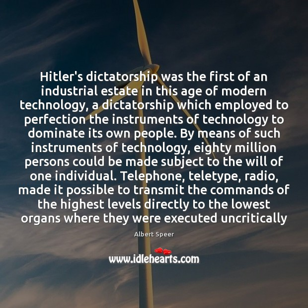 Image, Hitler's dictatorship was the first of an industrial estate in this age