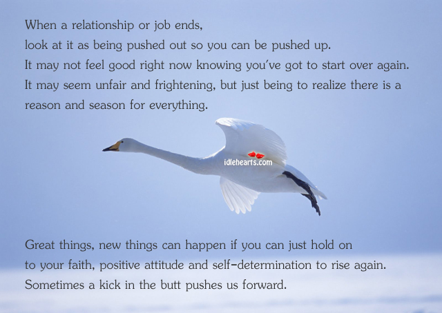 When a relationship or job ends…