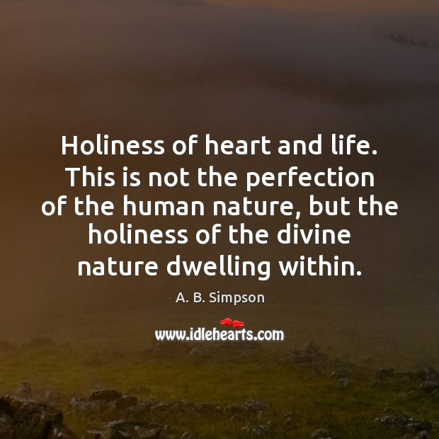 Holiness of heart and life. This is not the perfection of the Image