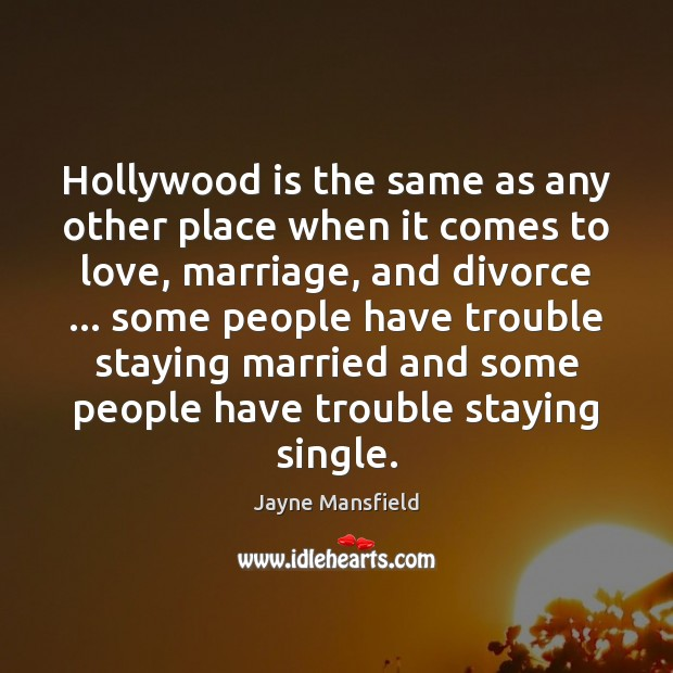 Hollywood is the same as any other place when it comes to Image