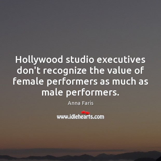 Image, Hollywood studio executives don't recognize the value of female performers as much