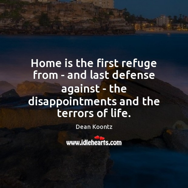 Home is the first refuge from – and last defense against – Image