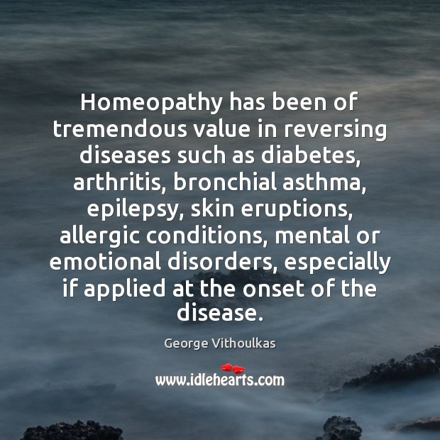 Homeopathy has been of tremendous value in reversing diseases such as diabetes, Image