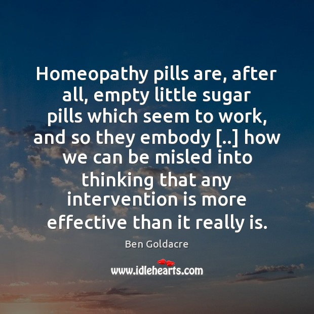 Image, Homeopathy pills are, after all, empty little sugar pills which seem to