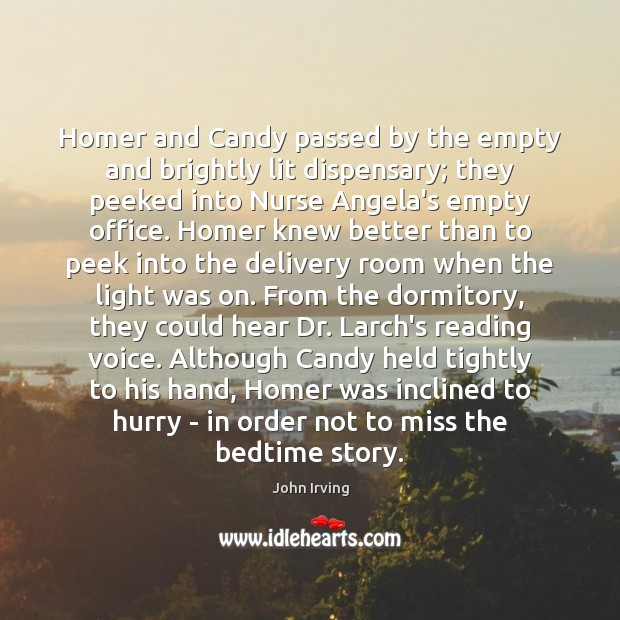 Image, Homer and Candy passed by the empty and brightly lit dispensary; they