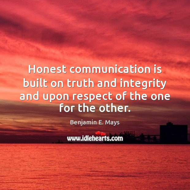 Image, Honest communication is built on truth and integrity and upon respect of