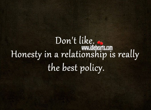 Image, Honesty in a relationship is really the best policy.