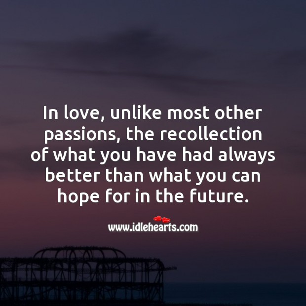 Hope for in the future Love Messages Image