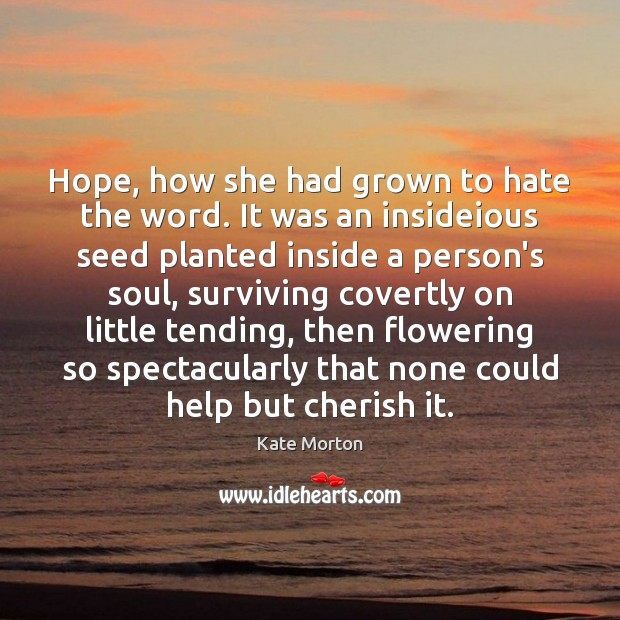 Hope, how she had grown to hate the word. It was an Image