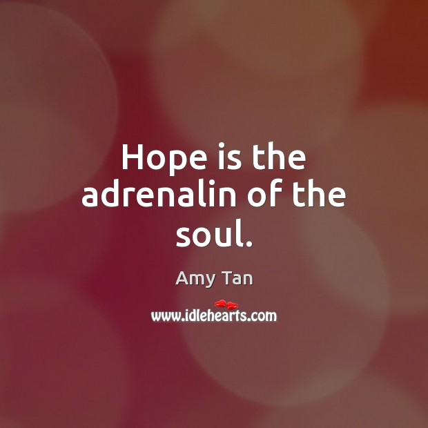 Image, Hope is the adrenalin of the soul.