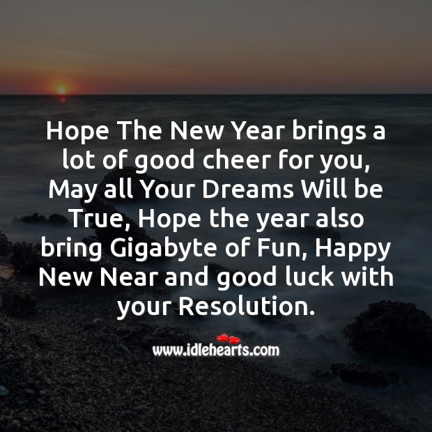 Hope the new year brings a lot of good cheer for you Image