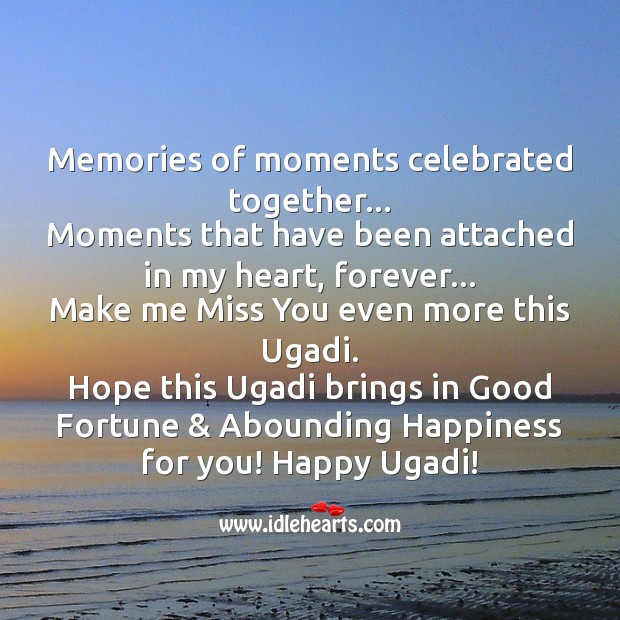 Hope this ugadi brings in good fortune & abounding happiness for you! Image