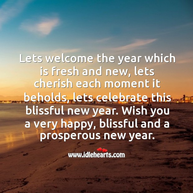 Image, Hope you have a blissful new year.