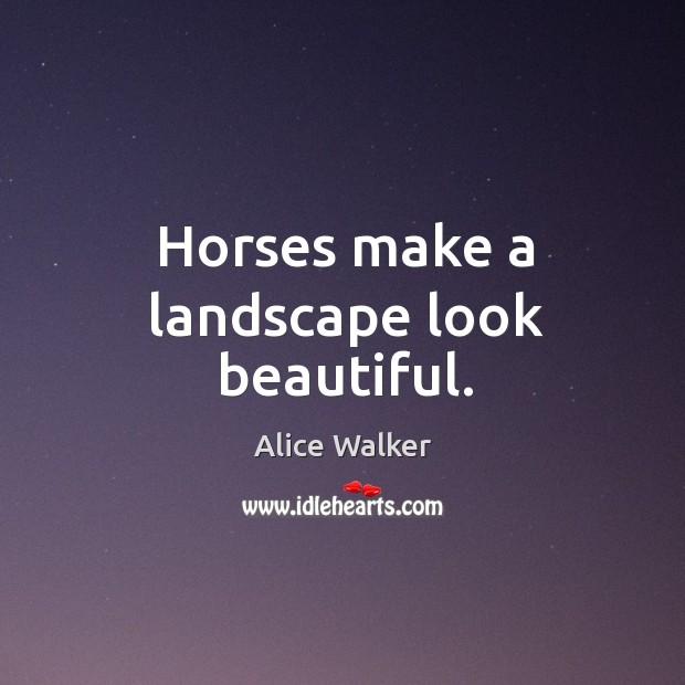 Image, Horses make a landscape look beautiful.