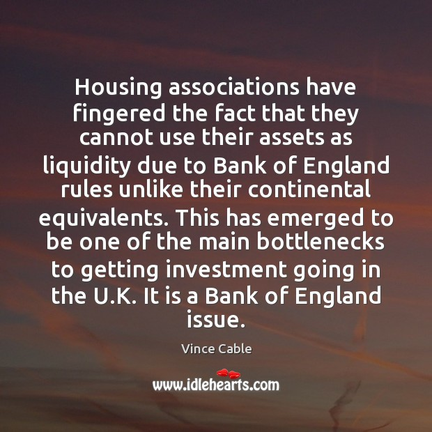 Image, Housing associations have fingered the fact that they cannot use their assets