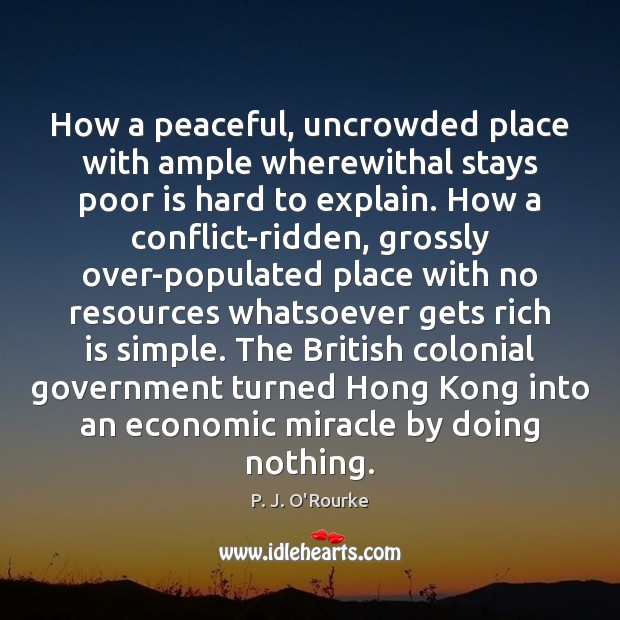 How a peaceful, uncrowded place with ample wherewithal stays poor is hard Image
