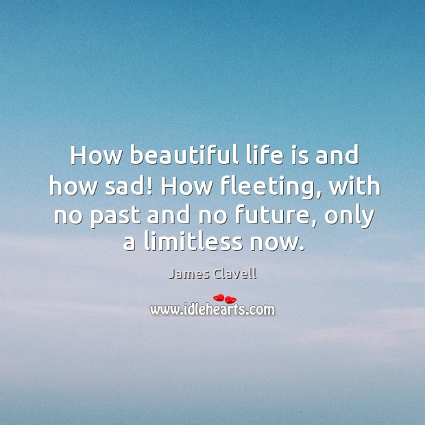 How beautiful life is and how sad! How fleeting, with no past James Clavell Picture Quote