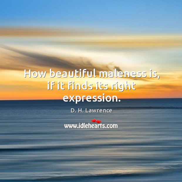 How beautiful maleness is, if it finds its right expression. Image
