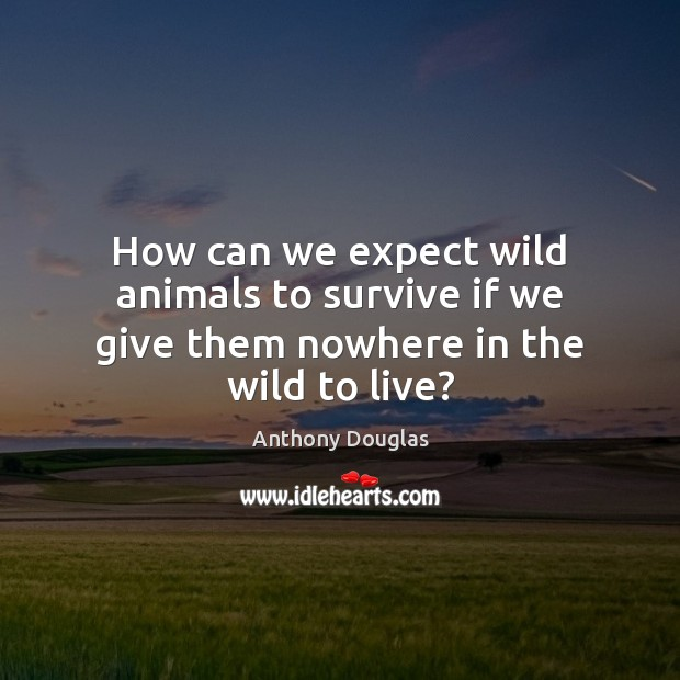 Image, How can we expect wild animals to survive if we give them nowhere in the wild to live?