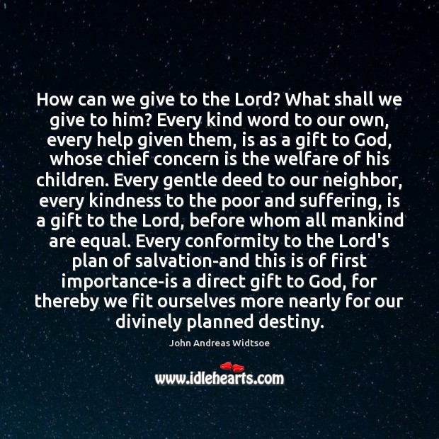 How can we give to the Lord? What shall we give to Image