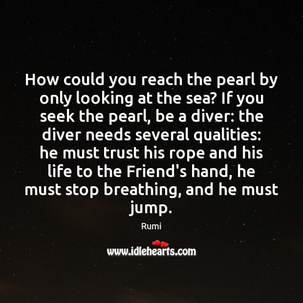 Image, How could you reach the pearl by only looking at the sea?