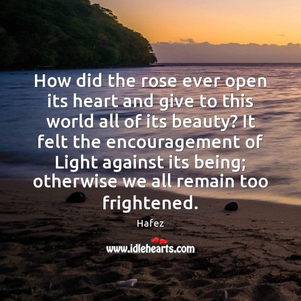 Image, How did the rose ever open its heart and give to this