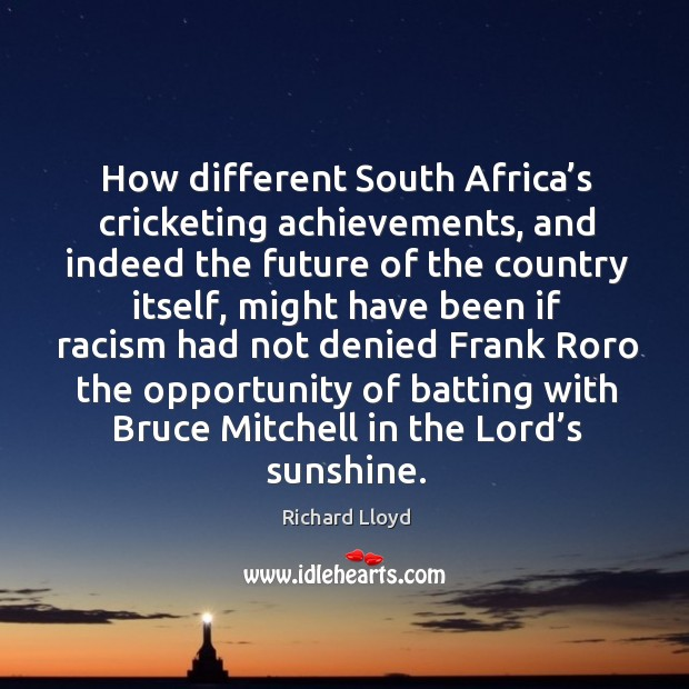 How different South Africa's cricketing achievements, and indeed the future of Image
