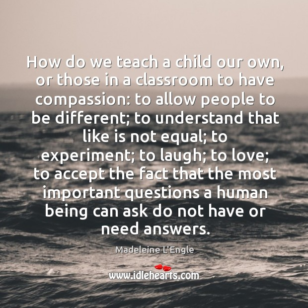 Image, How do we teach a child our own, or those in a