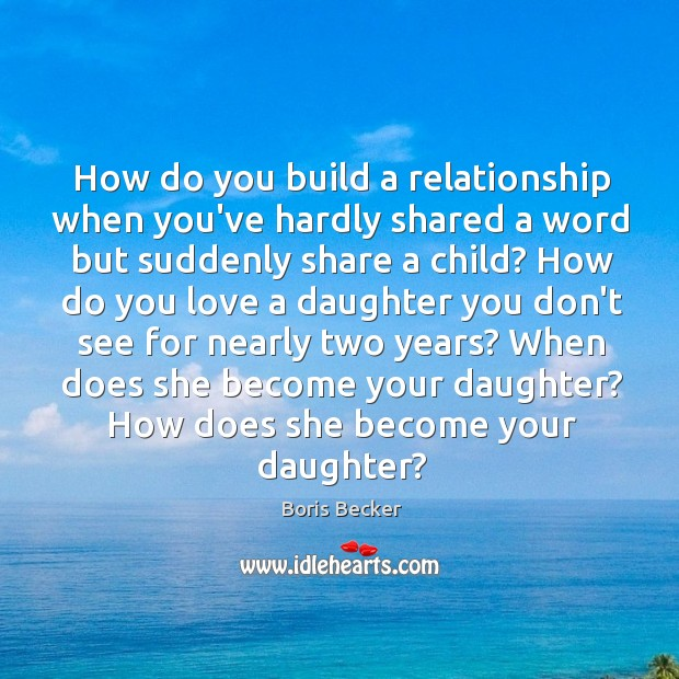How do you build a relationship when you've hardly shared a word Boris Becker Picture Quote