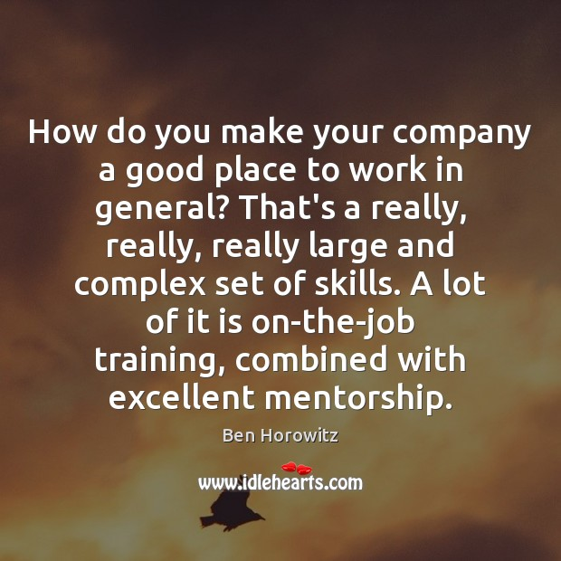 How do you make your company a good place to work in Image