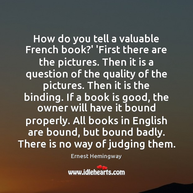 How do you tell a valuable French book?' 'First there are Image
