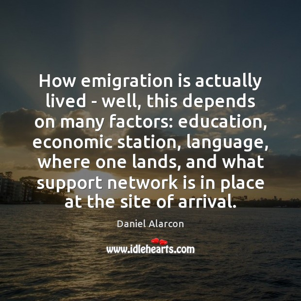 How emigration is actually lived – well, this depends on many factors: Image