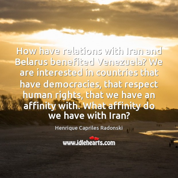 Image, How have relations with Iran and Belarus benefited Venezuela? We are interested