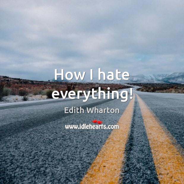 How I hate everything! Image