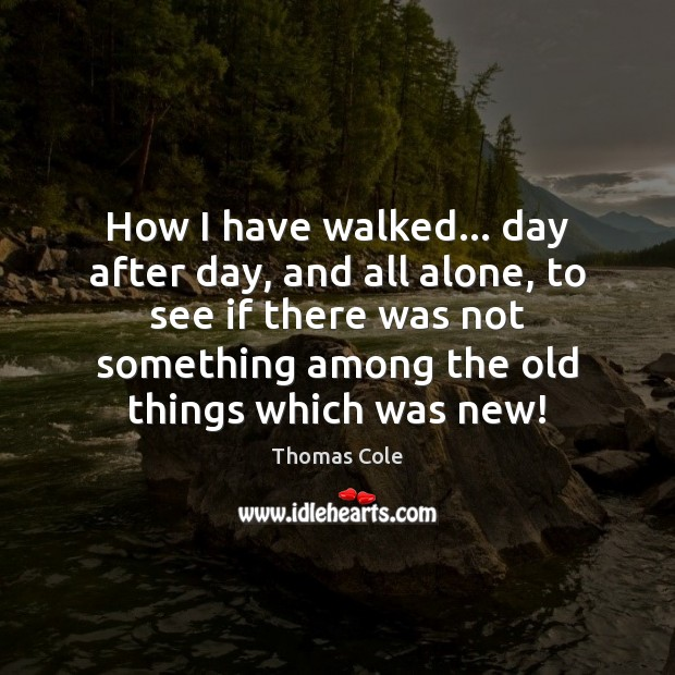 How I have walked… day after day, and all alone, to see Image