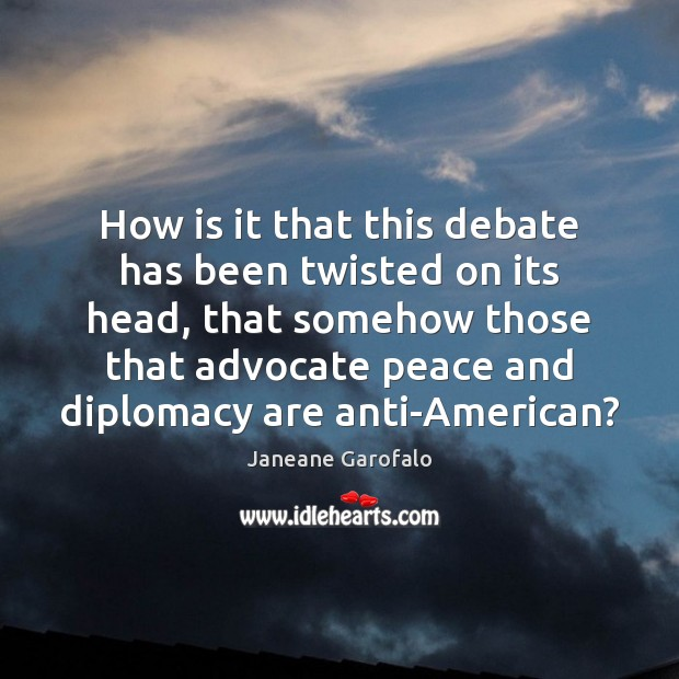 Image, How is it that this debate has been twisted on its head,