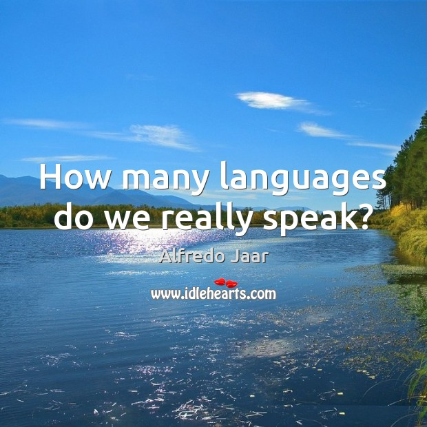 Image, How many languages do we really speak?