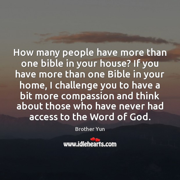 Image, How many people have more than one bible in your house? If