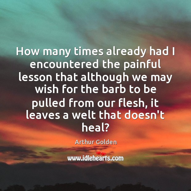 Image, How many times already had I encountered the painful lesson that although