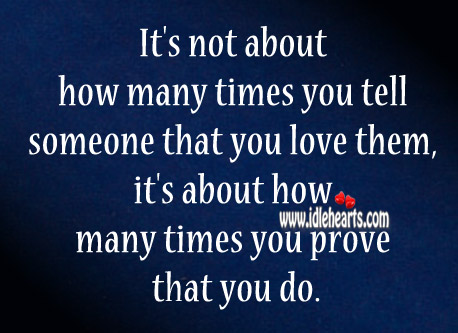 It's All About How Many Times You Prove