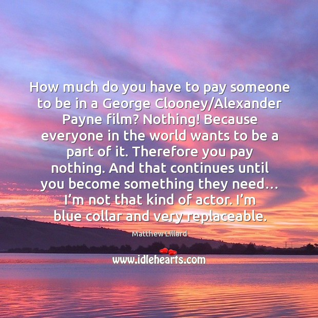 How much do you have to pay someone to be in a george clooney/alexander payne film? Image