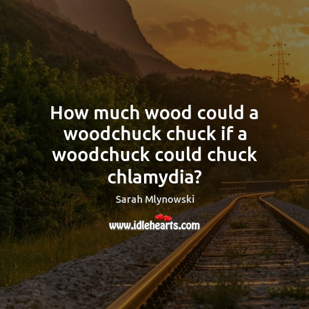 Image, How much wood could a woodchuck chuck if a woodchuck could chuck chlamydia?