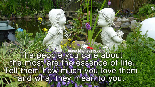Image, The people you care about the most are the essence of life.