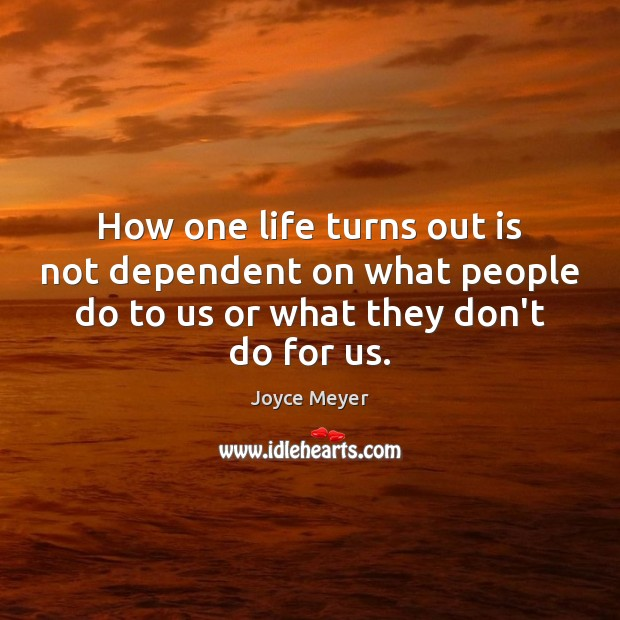 Image, How one life turns out is not dependent on what people do