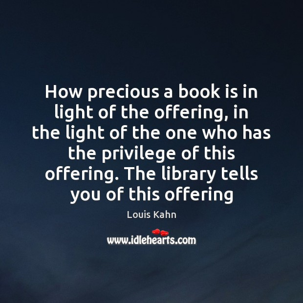 Image, How precious a book is in light of the offering, in the