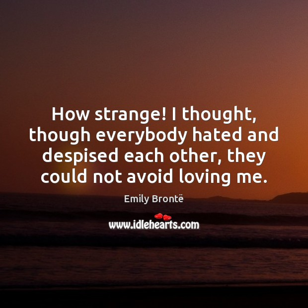 How strange! I thought, though everybody hated and despised each other, they Image
