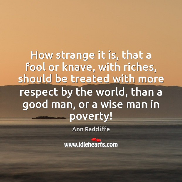 Image, How strange it is, that a fool or knave, with riches, should