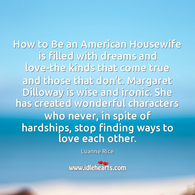 How to Be an American Housewife is filled with dreams and love-the Image