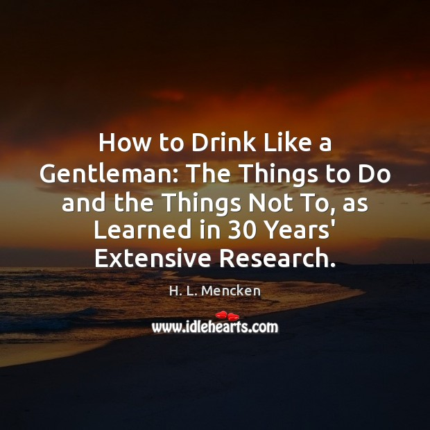 Image, How to Drink Like a Gentleman: The Things to Do and the